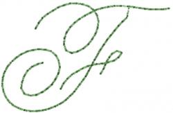 Old Script Font F embroidery design