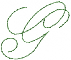 Old Script Font G embroidery design