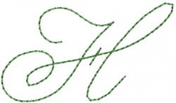 Old Script Font H embroidery design