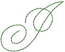 Old Script Font I embroidery design