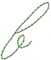 Old Script Font b embroidery design