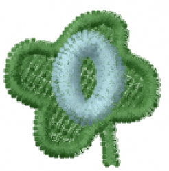 Lucky Clover Font 0 embroidery design