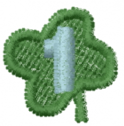 Lucky Clover Font 1 embroidery design