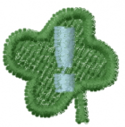 Lucky Clover Font ! embroidery design