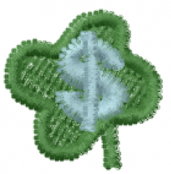 Lucky Clover Font $ embroidery design