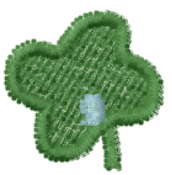 Lucky Clover Font Comma embroidery design