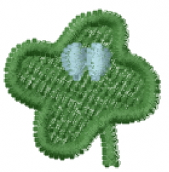 """Lucky Clover Font """" embroidery design"""