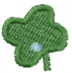 Lucky Clover Font Period embroidery design