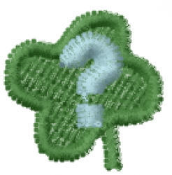 Lucky Clover Font ? embroidery design