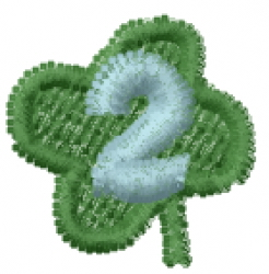 Lucky Clover Font 2 embroidery design