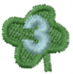 Lucky Clover Font 3 embroidery design