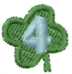 Lucky Clover Font 4 embroidery design