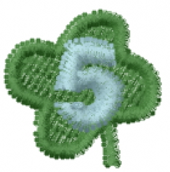 Lucky Clover Font 5 embroidery design