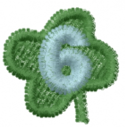 Lucky Clover Font 6 embroidery design