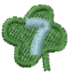 Lucky Clover Font 7 embroidery design