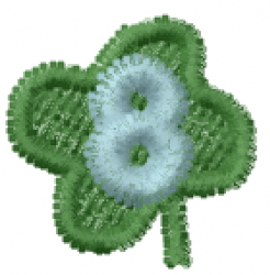 Lucky Clover Font 8 embroidery design