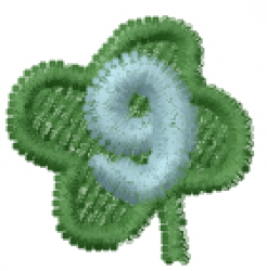 Lucky Clover Font 9 embroidery design