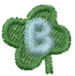 Lucky Clover Font B embroidery design