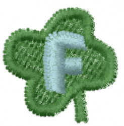 Lucky Clover Font F embroidery design