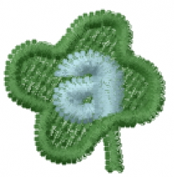 Lucky Clover Font a embroidery design