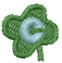 Lucky Clover Font c embroidery design