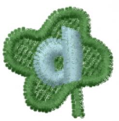 Lucky Clover Font d embroidery design