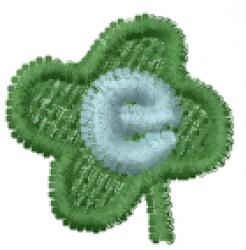 Lucky Clover Font e embroidery design