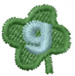 Lucky Clover Font g embroidery design