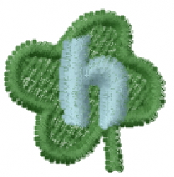 Lucky Clover Font h embroidery design