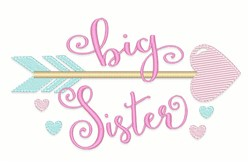 Big Sister Arrow embroidery design