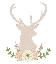 Floral Buck embroidery design