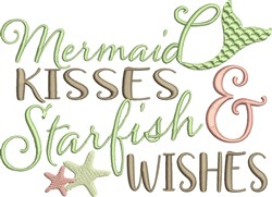 Mermaid Kisses embroidery design
