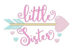 Little Sister Arrow embroidery design