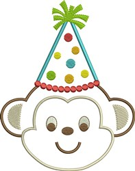 Birthday Monkey embroidery design