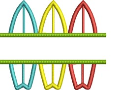 Surfboard Namedrop embroidery design