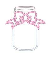 Mason Jar Outline embroidery design