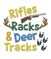Rifles Racks embroidery design