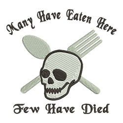 Few Have Died embroidery design