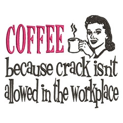 Coffee Workplace embroidery design