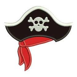 Pirate Hat Applique embroidery design