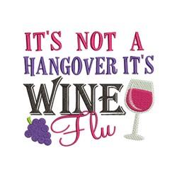 Wine Flu embroidery design
