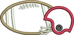 Football Applique embroidery design