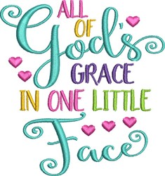 Gods Grace embroidery design