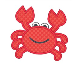 Applique Crab embroidery design