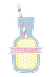 Lemonade Bottle embroidery design