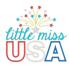 Little Miss USA embroidery design
