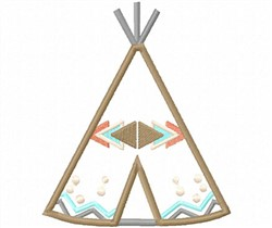 Teepee Applique embroidery design
