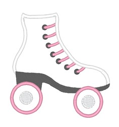 Applique Roller Skate embroidery design
