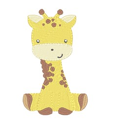 Baby Giraffe embroidery design