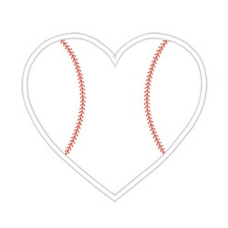 Baseball Heart embroidery design